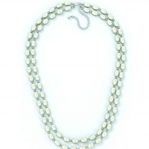 Двойное ожерелье из белого жемчуга