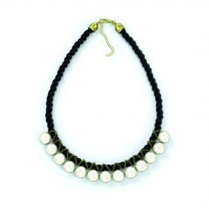 Ожерелье жемчуг на черной нити